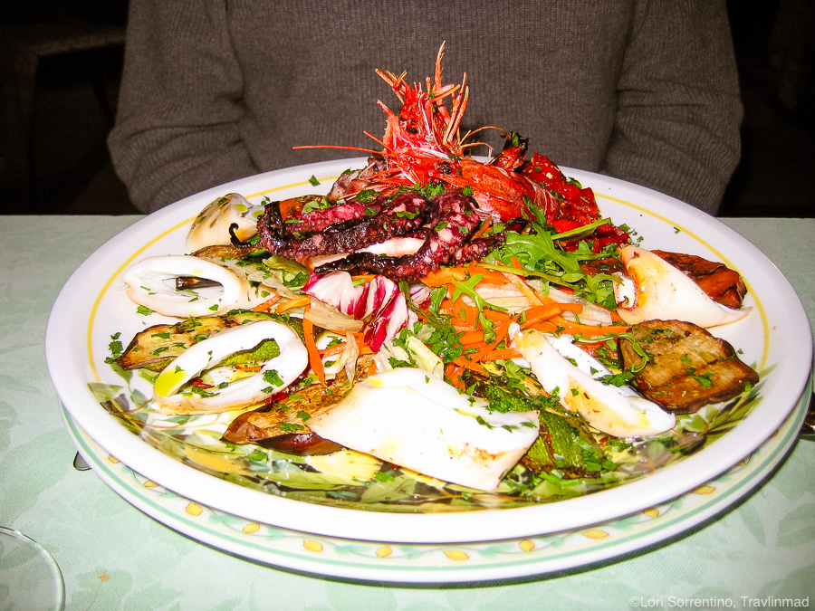 Grilled seafood platter at Da Paulino, Capri