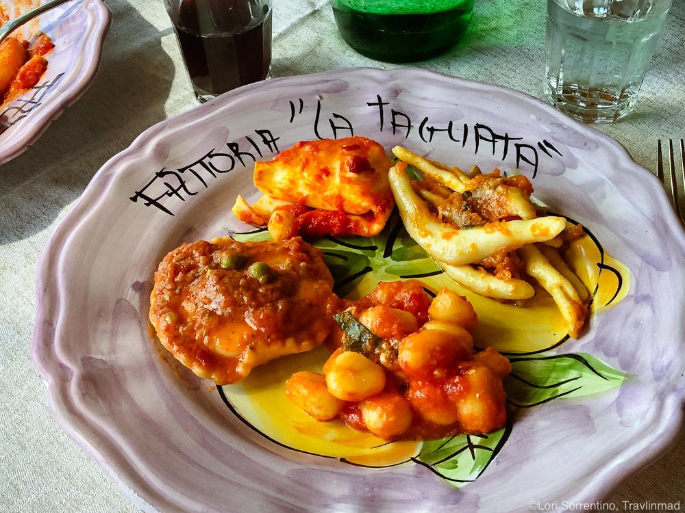 Tasting menu at La Tagliata, Positano