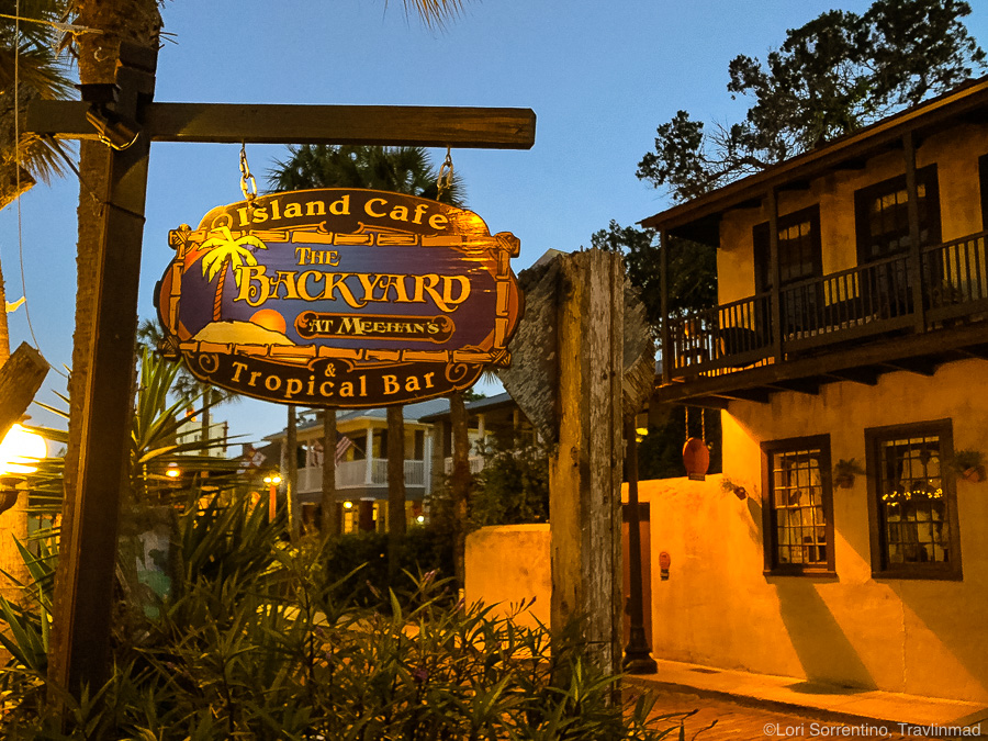 The Backyard Island Cafe & Tropical Bar, St Augustine, Florida