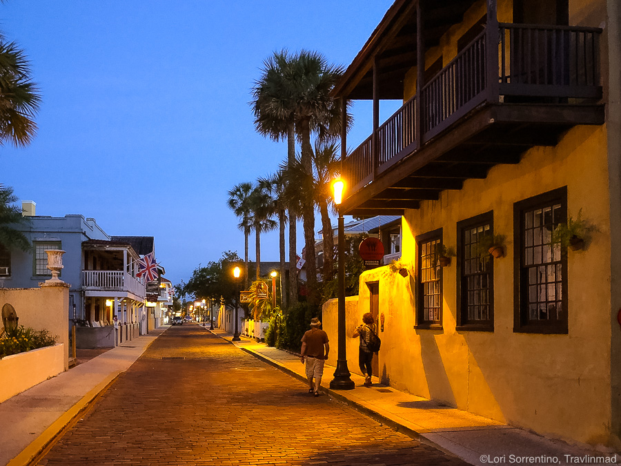Quiet street in Old Town St Augustine
