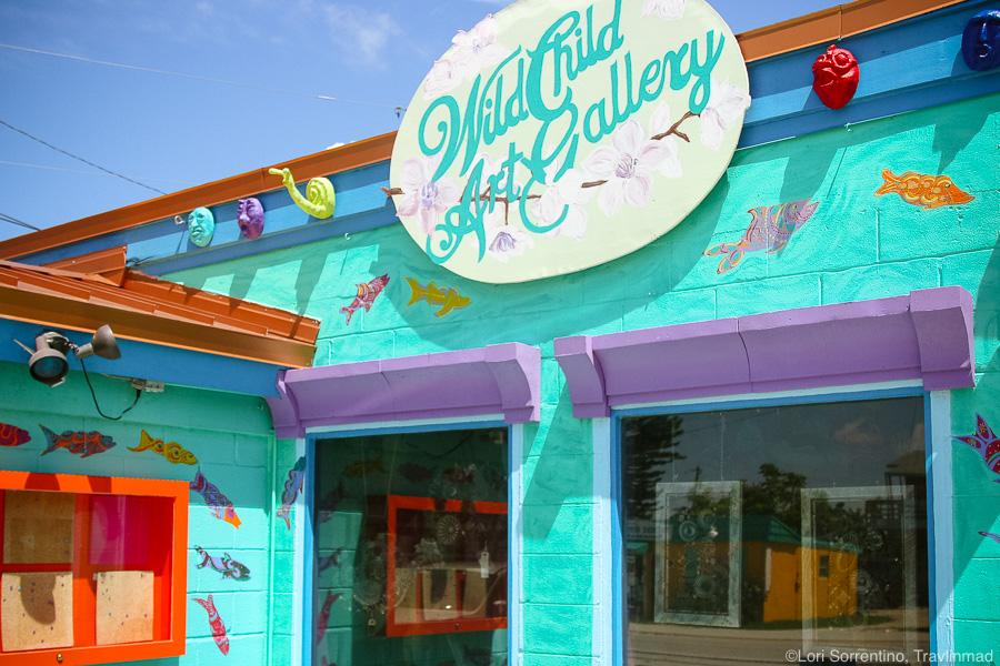 Colorful Wild Child art gallery, Matlacha, Pine Island, Florida