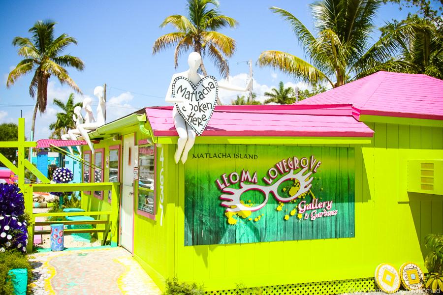 Colorful Leoma Lovegrove art gallery, Matlacha, Pine Island, Florida