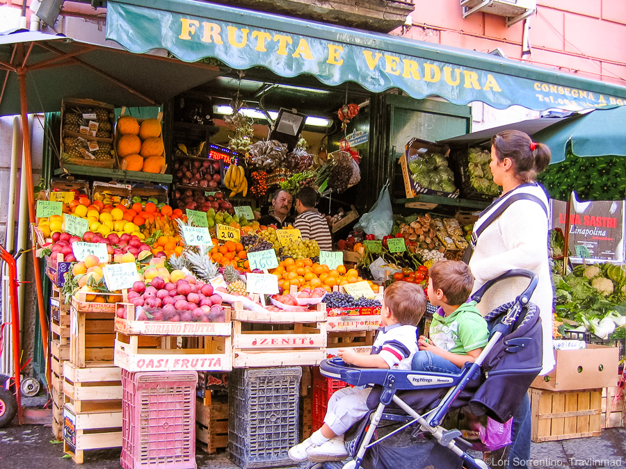 Fresh produce market in Naples, Italy
