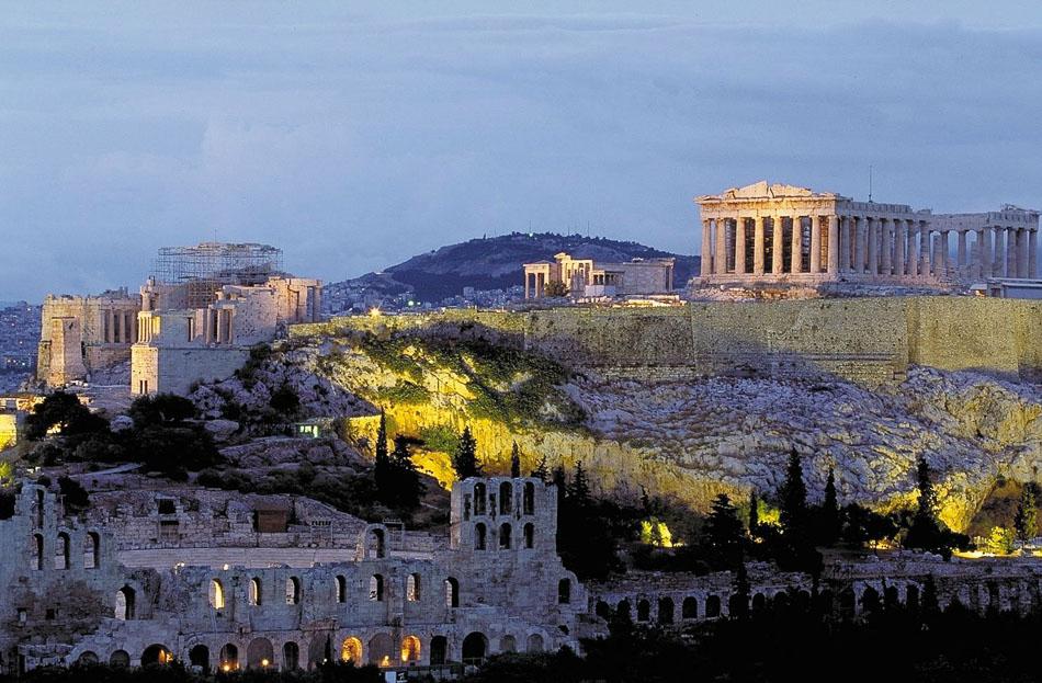 The Parthenon atop the Acropolis, Greece