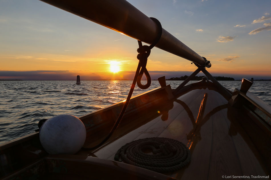 A Venetian lagoon island boat tour at sunset
