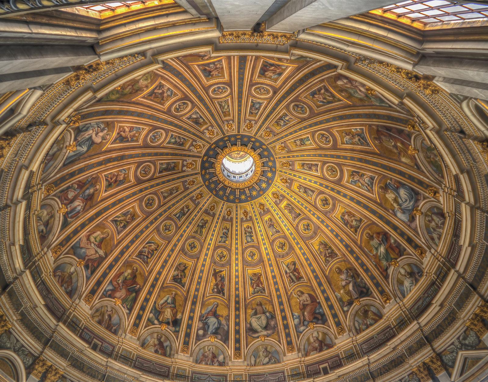 The mezmerizing Sistine Chapel ceiling by Michelangelo
