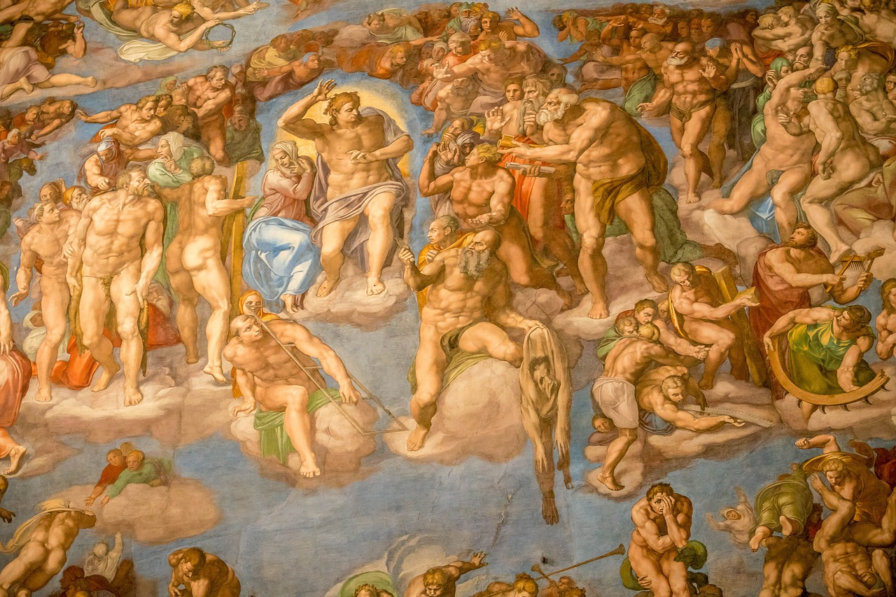 The mezmerizing Sistine Chapel ceiling by Michelangelo