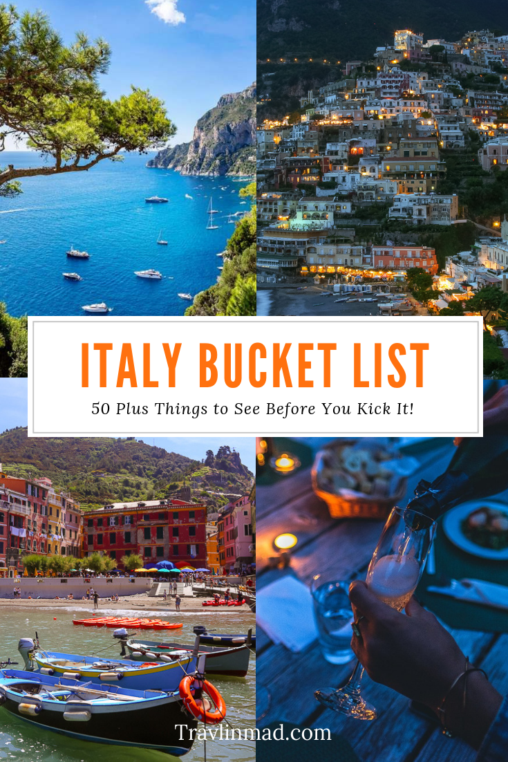Our favorite 50+ ideas for your ever-growing #Italy #bucketlist — things to do and places you have to see before you kick it! Foods to eat, famous landmarks, road trips, and hidden gems along the way.
