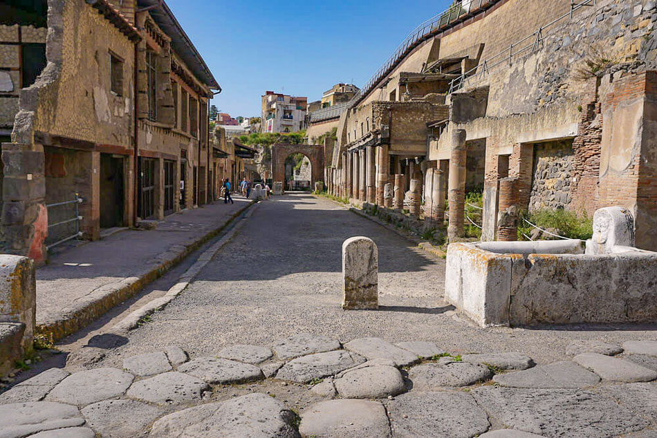 Two story buildings still intact at Herculaneum, Photo: Helen on Her Holidays