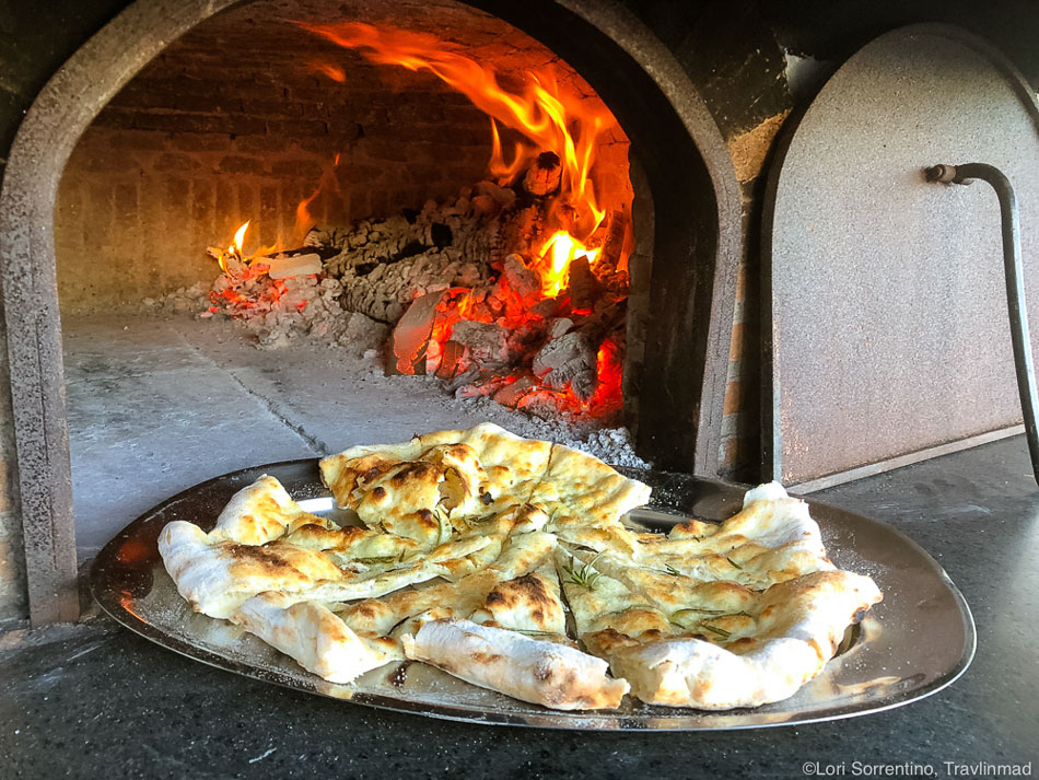 Authentic wood-fired Pizza Foccacia in Naples, Italy