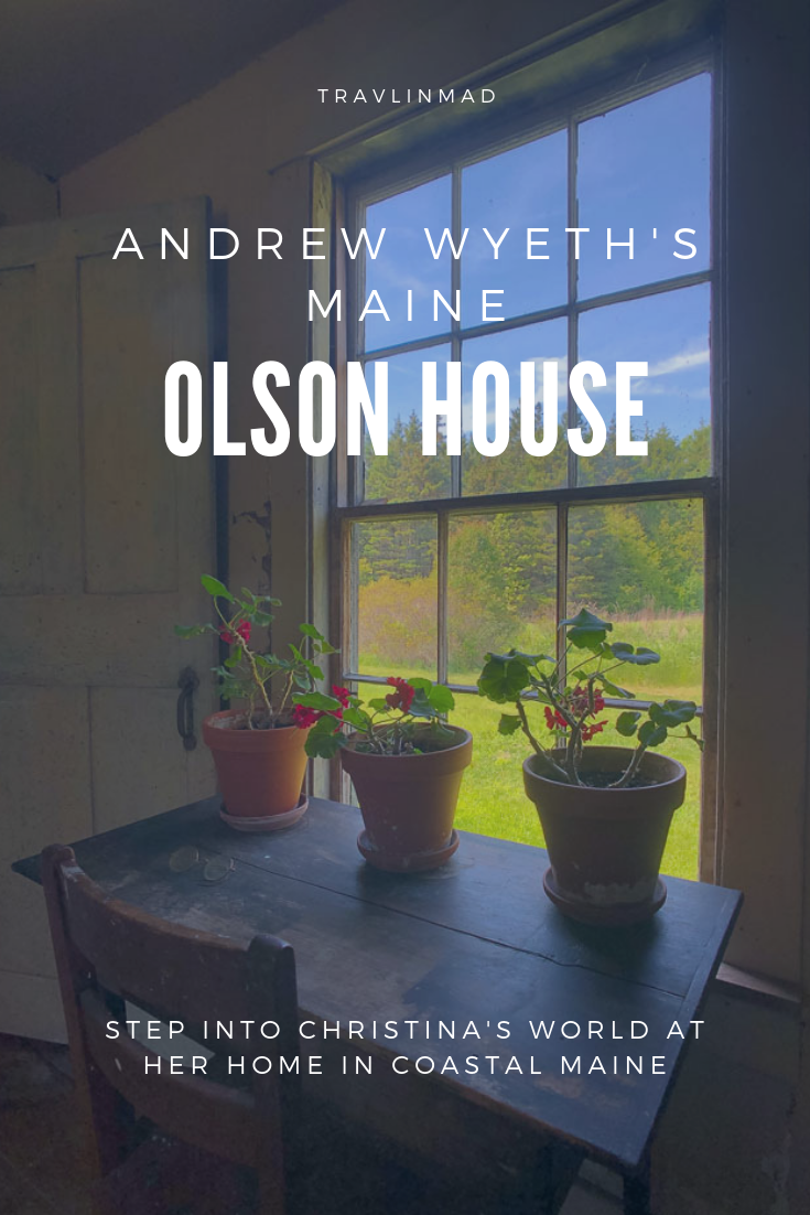 Step into Andrew Wyeth's Christina's World at the Olson House in Cushing, #Maine for a unique glimpse into the history and story behind the most famous painting in American history. #olsonhouse