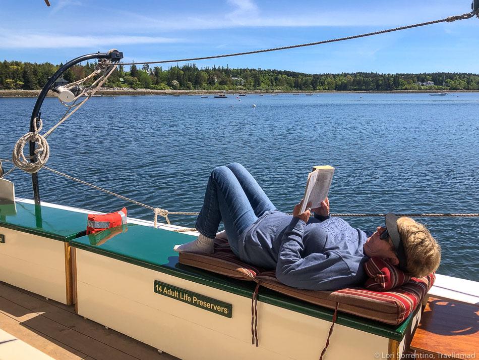 Relaxing on the J & E Riggin