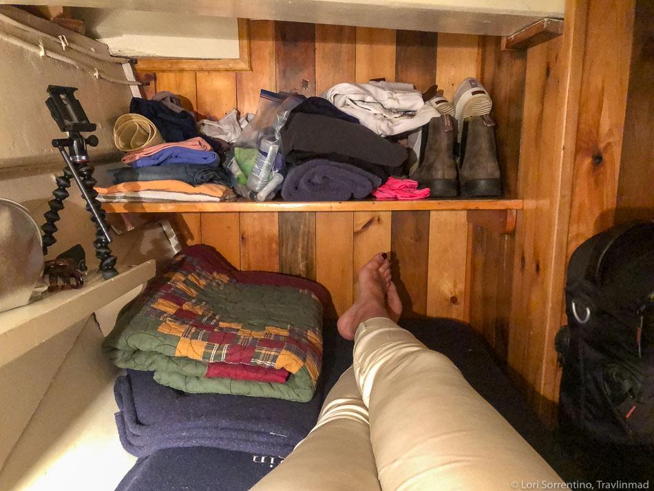 Upper berth in cabin 1