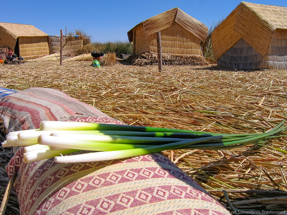 Uros islands homes, Lake Titicaca, Peru