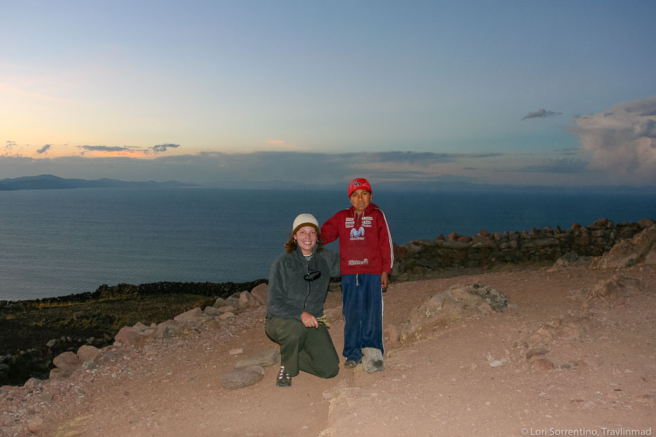 My new young friend, Lake Titicaca Peru from Isla Amantani