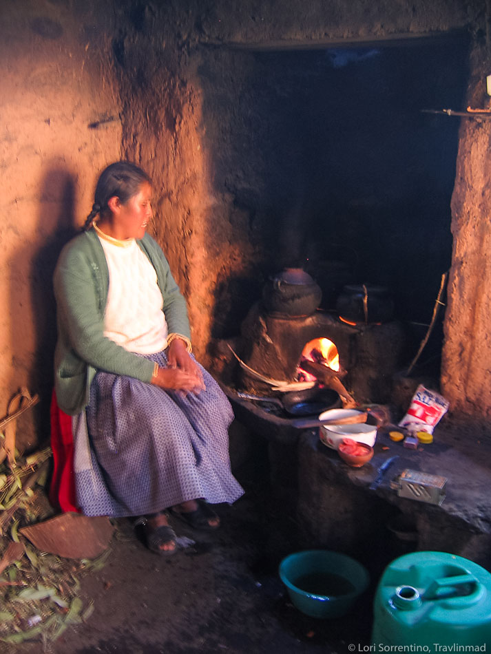 Dinnertime, Amantani, Lake Titicaca, Peru