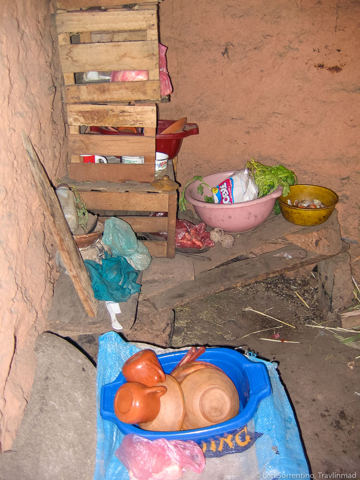 Pantry at our Isla Amantani home, Peru