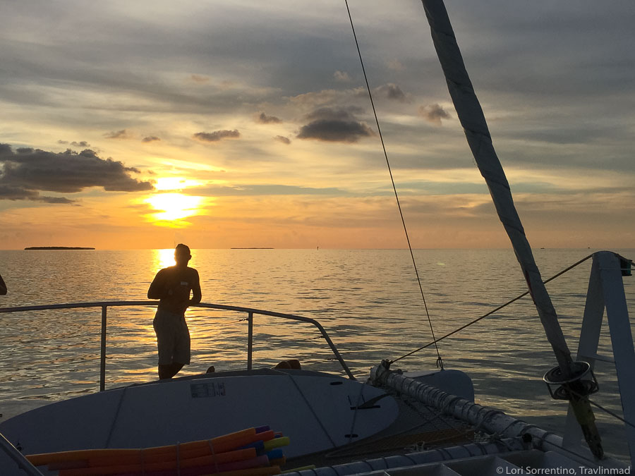 Sunset catamaran sail in Key West, Florida