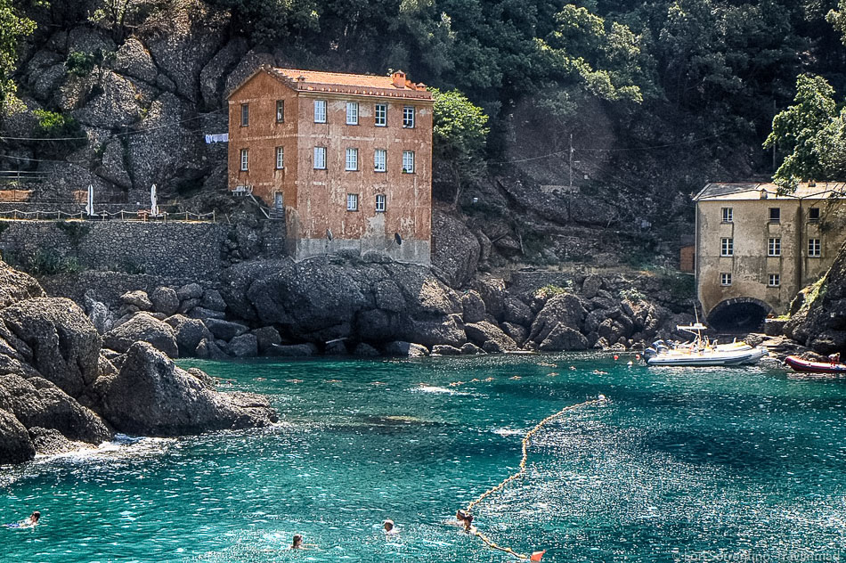 The quiet village of Camogli, Liguria in northern Italy