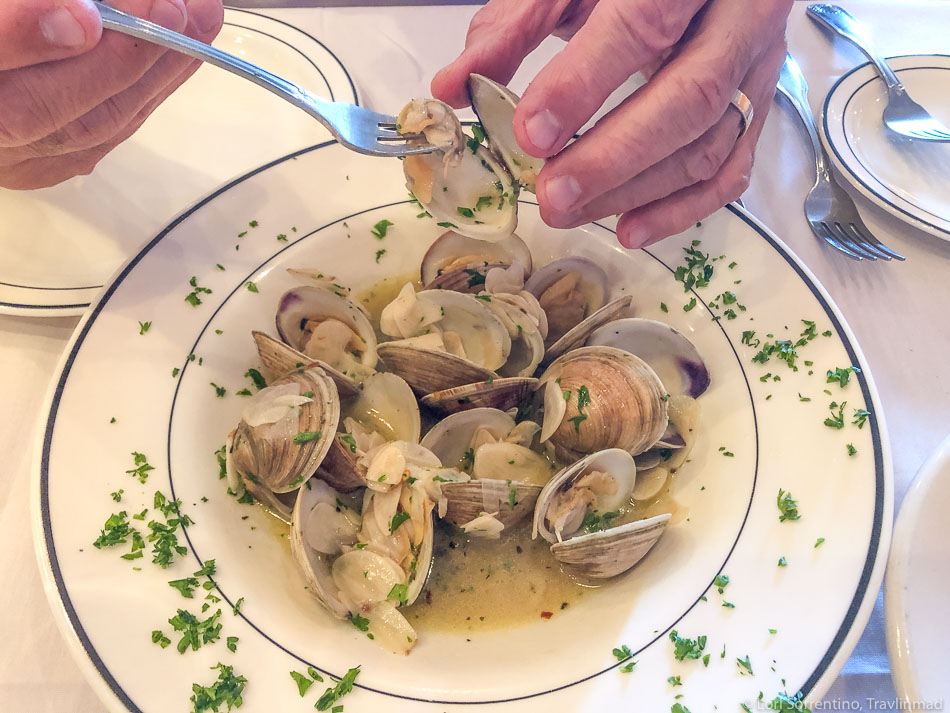 Panevino does garlicky clams really well!