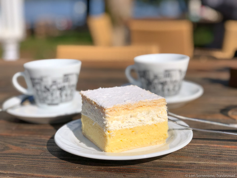 Bled Creme Cake, a must-eat when you're visiting scenic Lake Bled