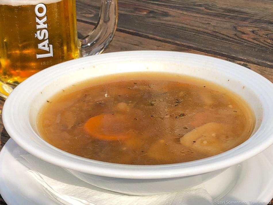 Typical Jota soup