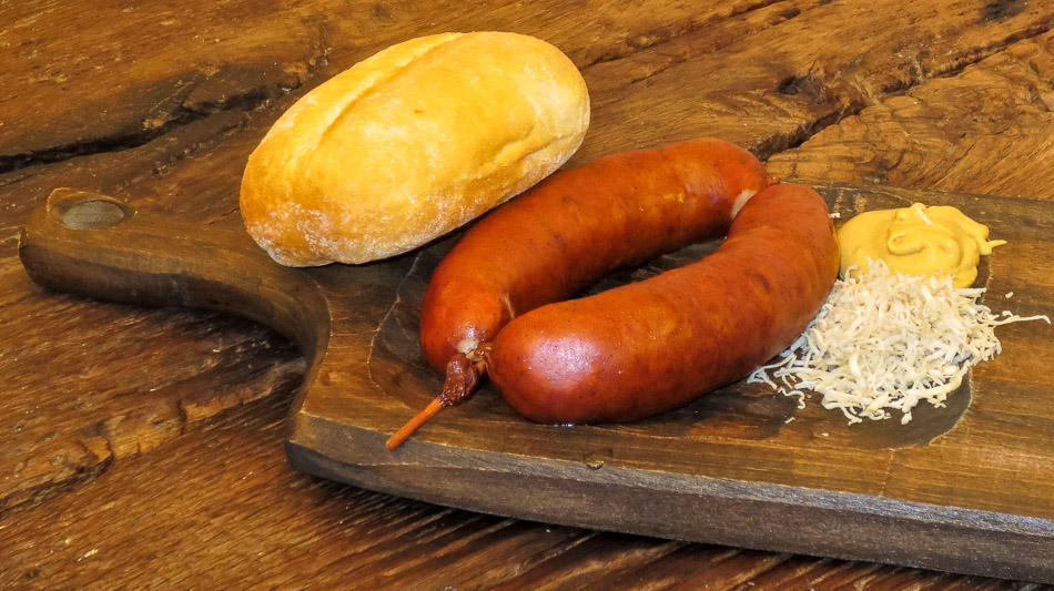 Traditional Slovenian Carniolan sausage