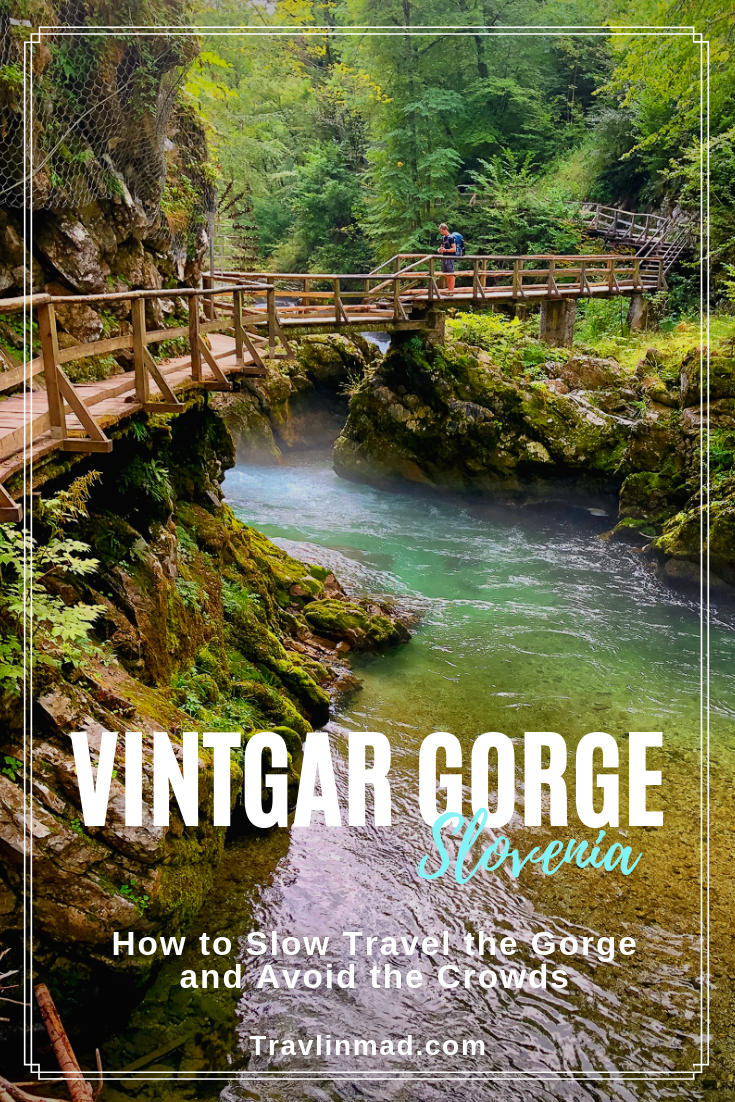 Hike Vintgar Gorge, Slovenia and experience this magical place the way nature intended. #VintgarGorge #Slovenia