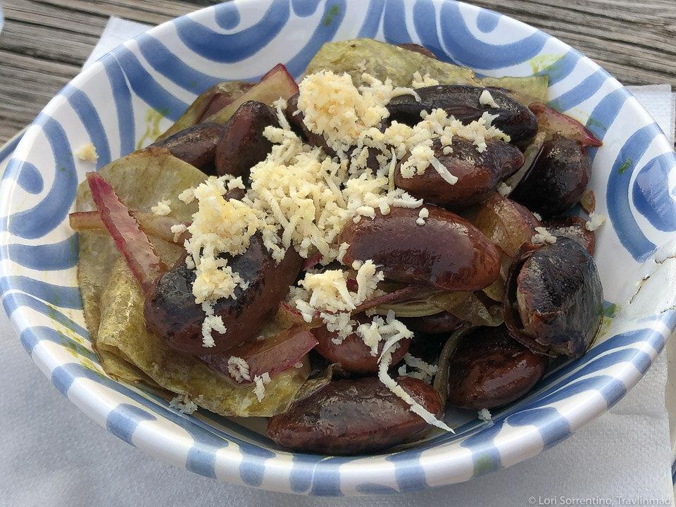 Käferbohnen (Runner Bean) salad, a traditional food in Austria