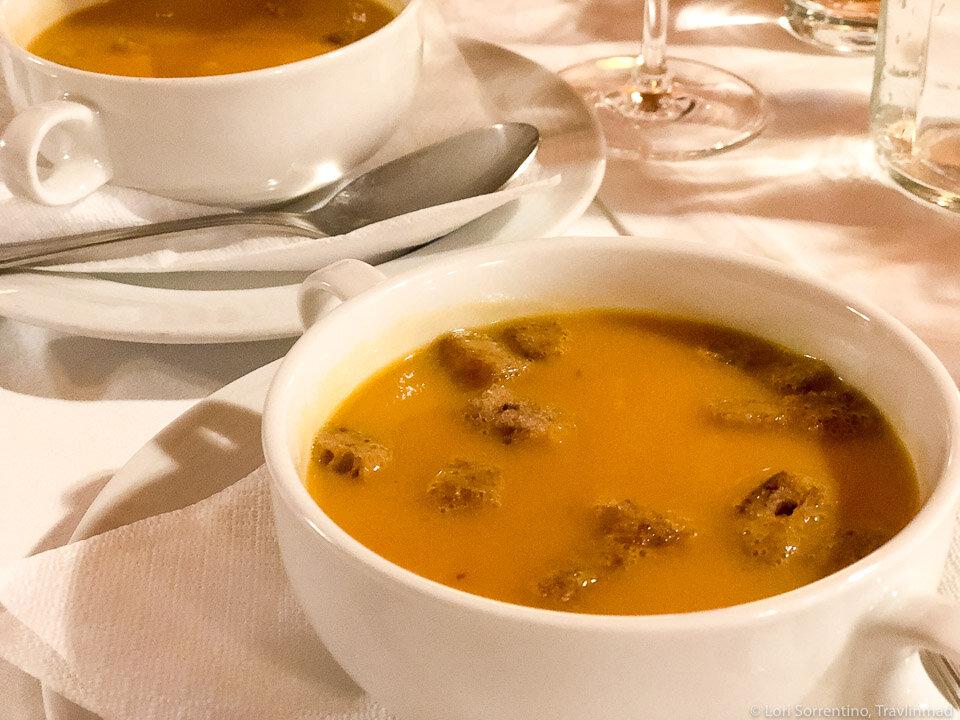 Pumpkin soup in the Wachau Valley, Upper Austria