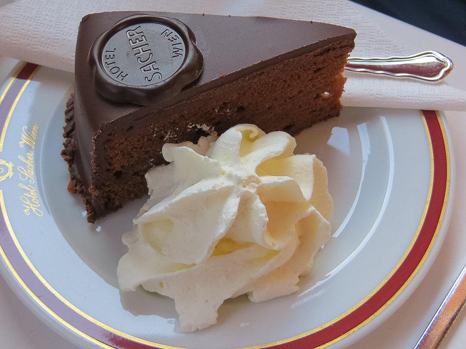 Sachertorte, a classic Viennese-style Austrian dessert
