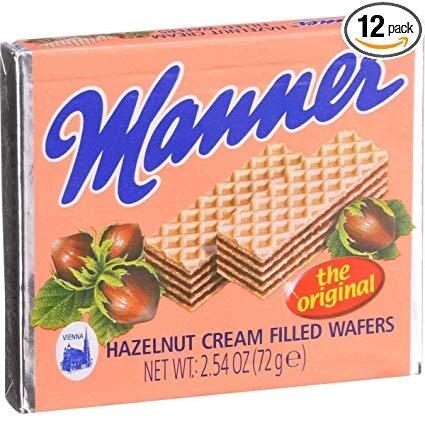 Manner Wien, Austria's famous hazelnet creme-filled wafers