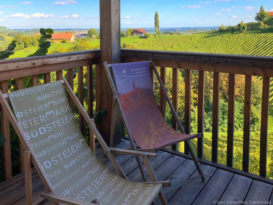 Room with a vineyard view at Dreisiebner Stammhaus