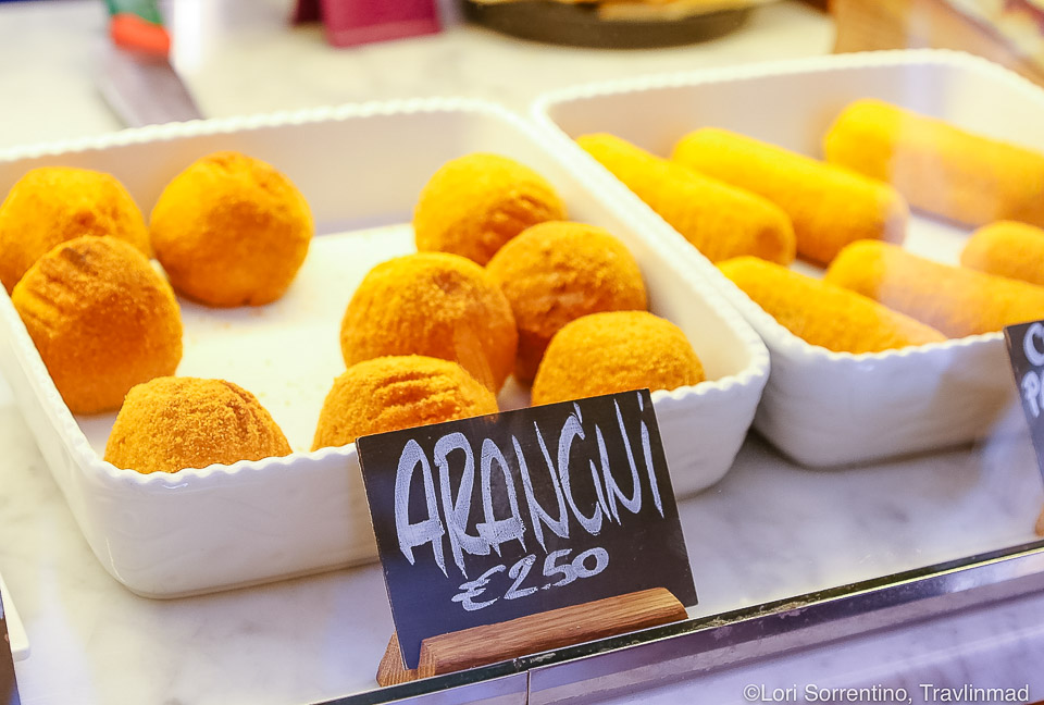 Arancini, or rice balls, are a traditional Italian food