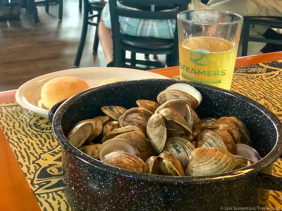 Cedar Key clams, one of the most popular Florida foods