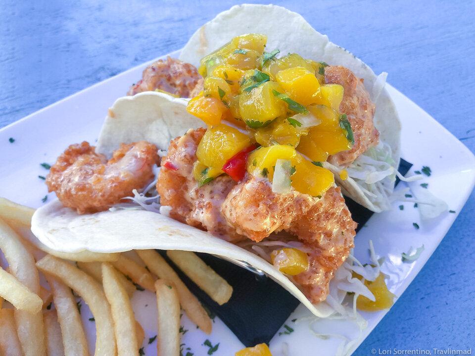 Shrimp tacos in the Florida Keys