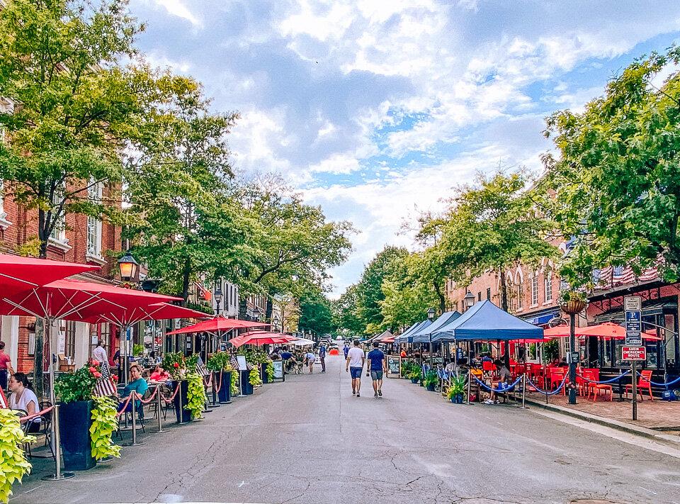 King Street in Alexandria, Virginia
