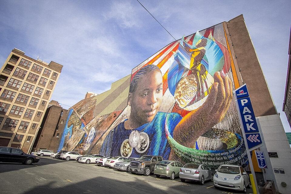 Street art is prolific on the streets of Philadelphia