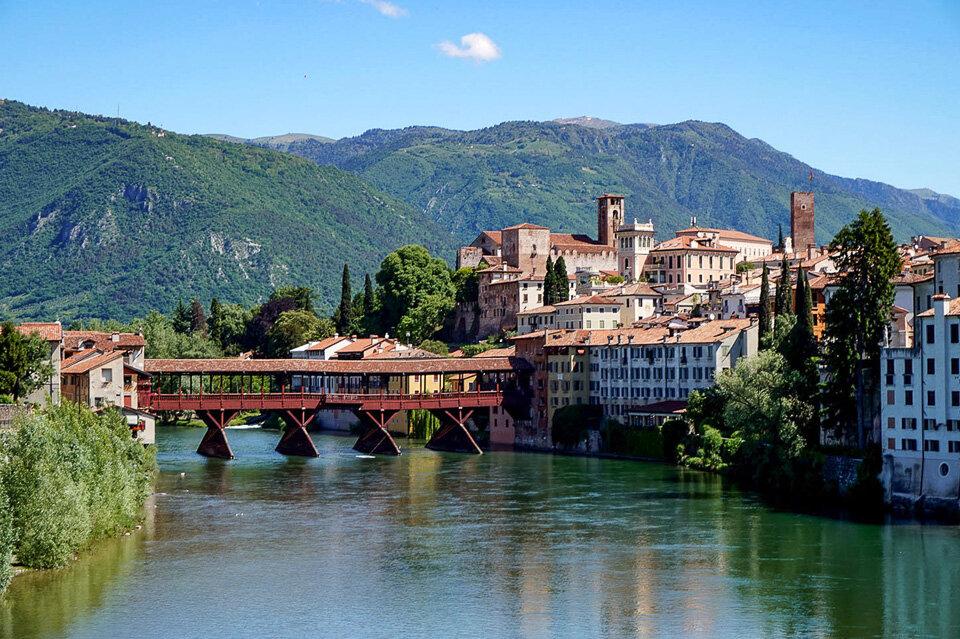 Ponte Vecchio bridge in Bassano del Grappa