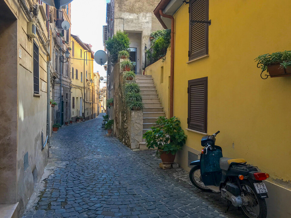 The narrow streets of Norma hide from the breathtaking scenery that surrounds this beautiful small Italian town