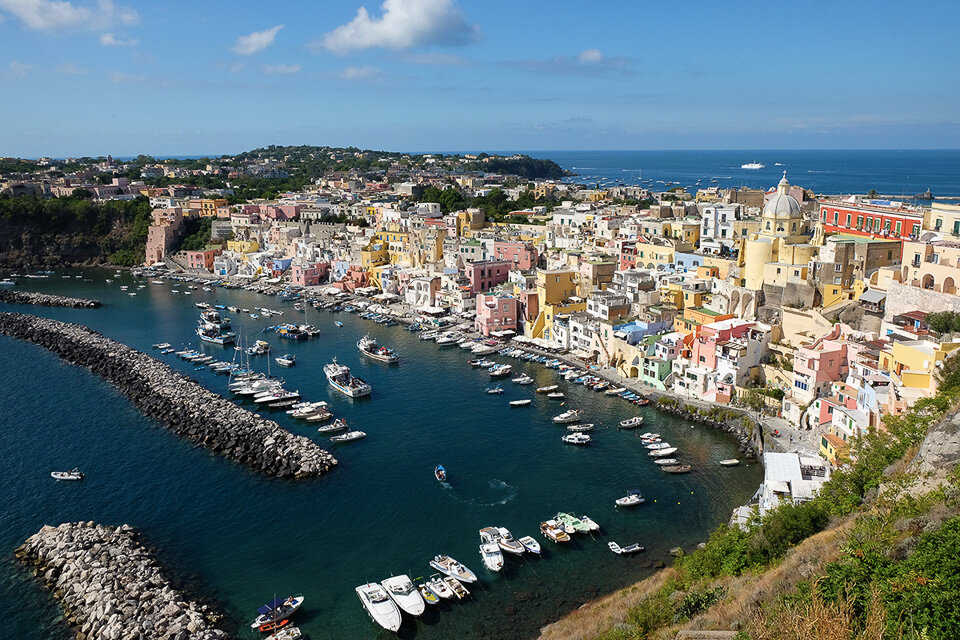 Like a bowl of sherbet-colored candies, Procida is one of the most colorful small towns in Italy.