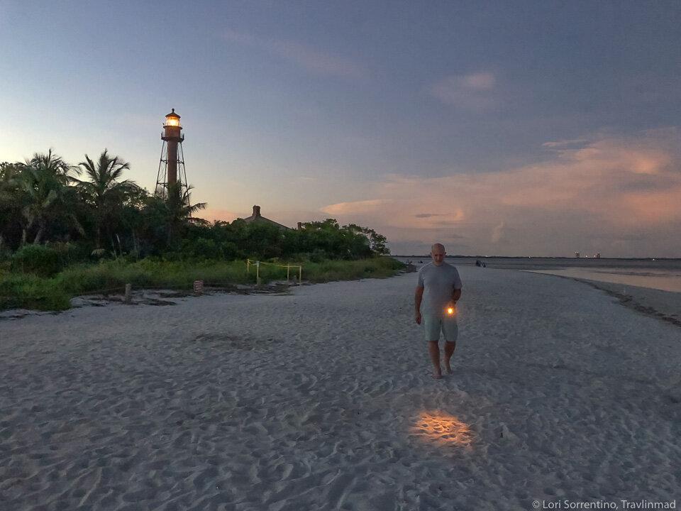 Night shelling at Lighthouse Beach, Sanibel