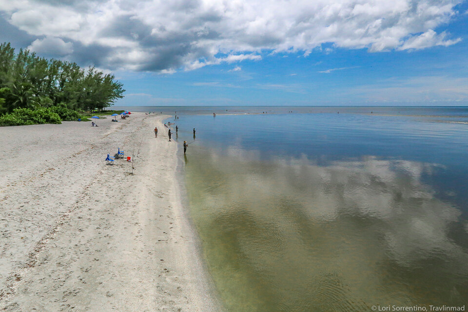 Blind Pass, one of the best beaches on Sanibel