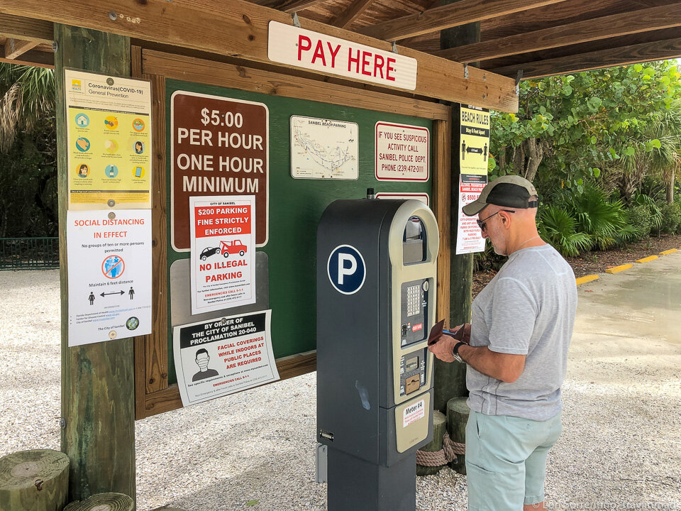 Parking on Sanibel beaches is around $5 per hour
