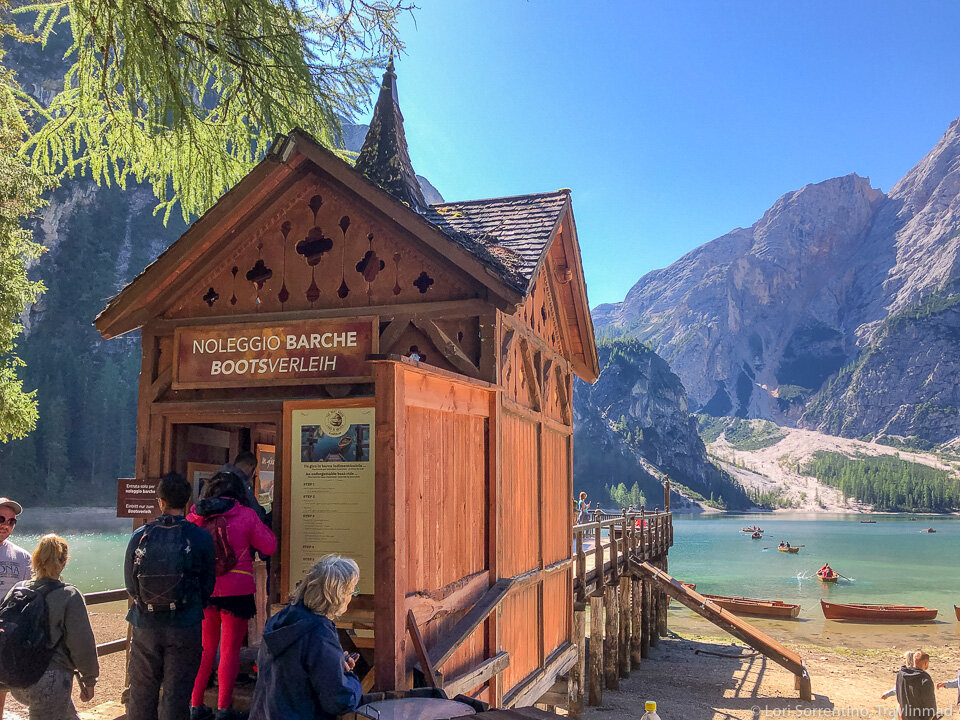 Get there early to rent a boat on Lago di Braies