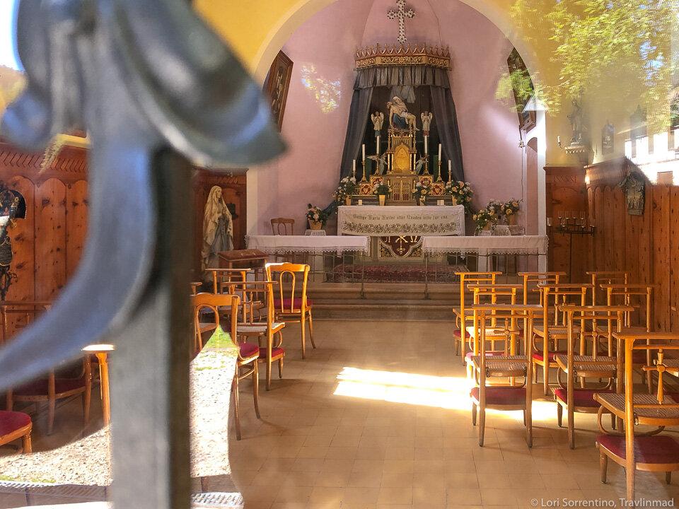 Inside the Chapel of Lake Braies (Cappella Lago di Braies)