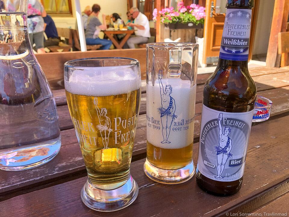 Beer at Eggerhof Speck Stube