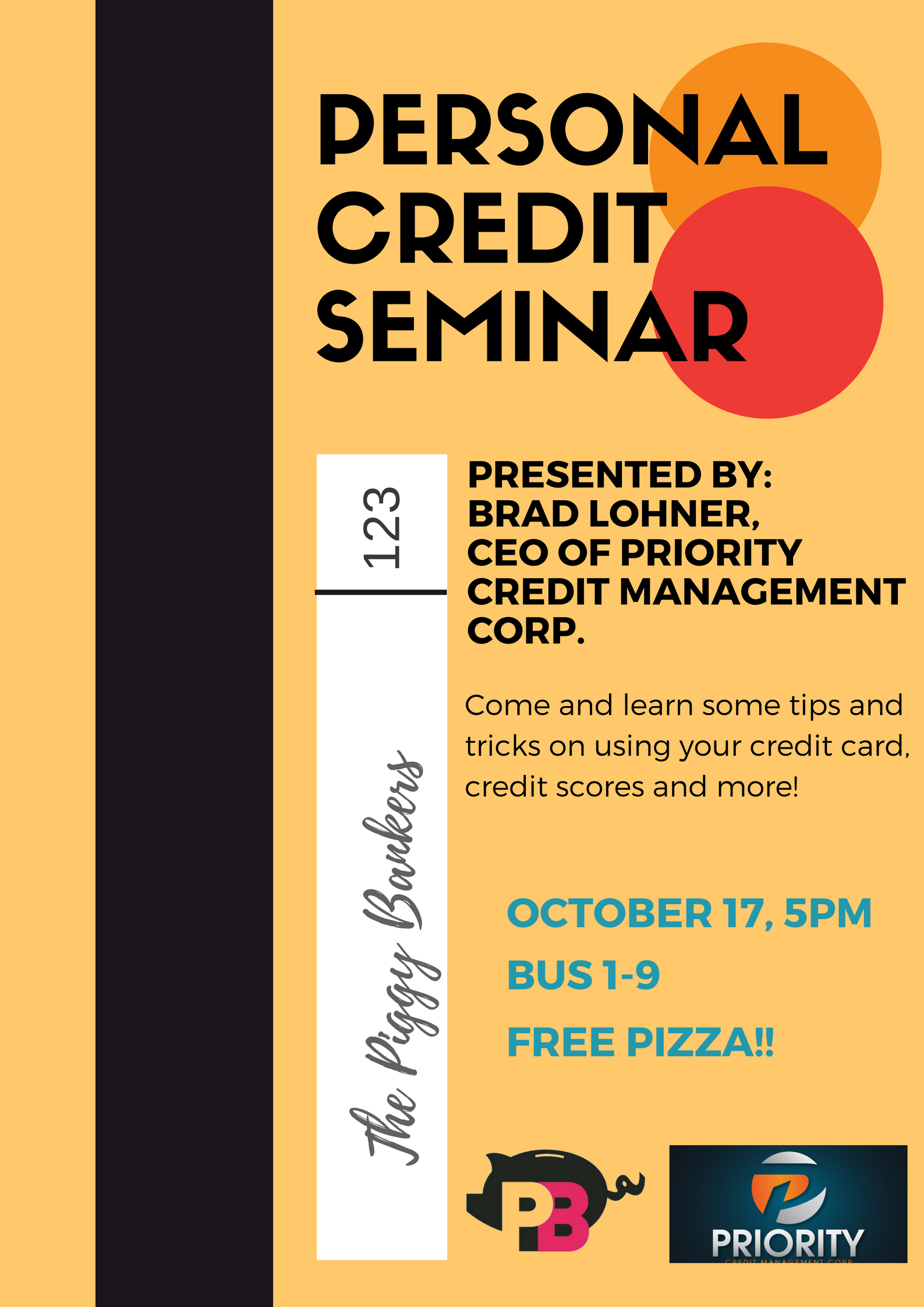 With speaker: Brad Lohner, CEO of the Priority Credit Management Corp.