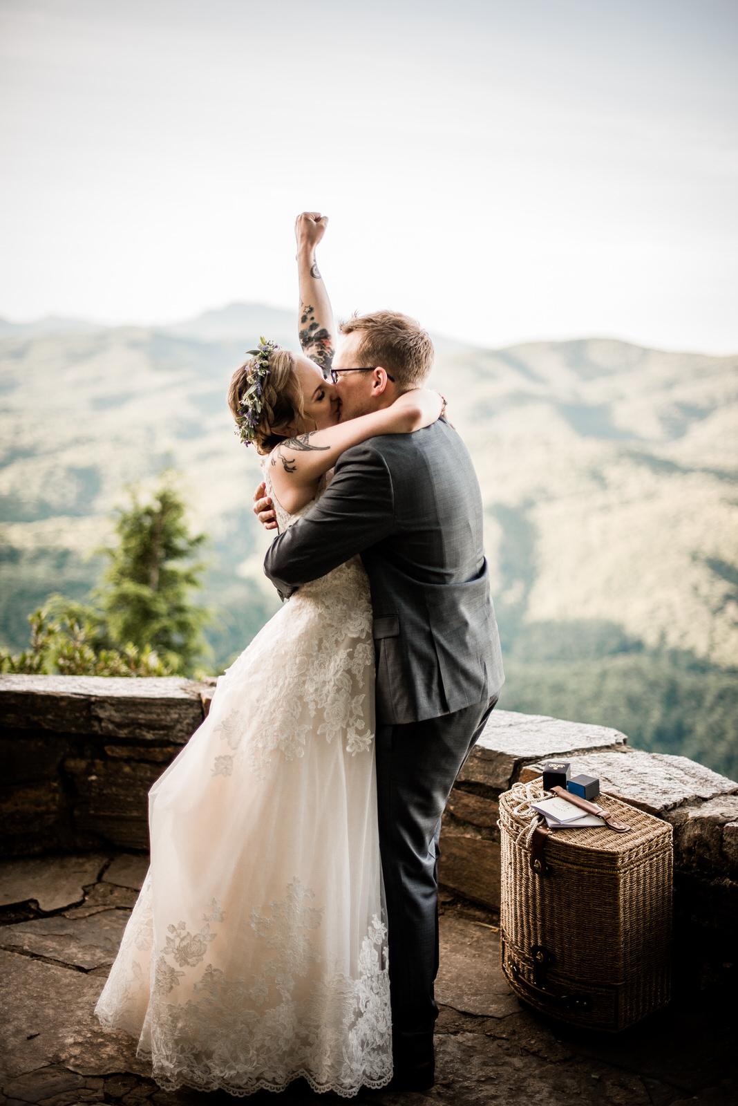 destination elopement on the blue ridge parkway - CHESTOA RIDGE OVERLOOK