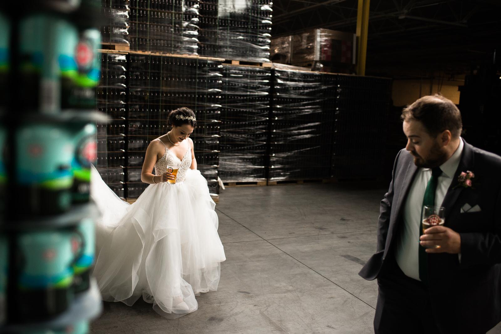 rainy day brewery wedding - HIGHLAND BREWING COMPANY | ASHEVILLE NC